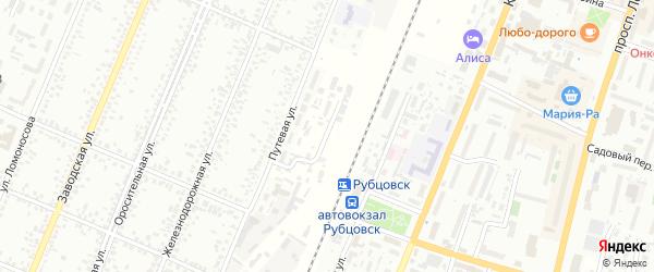 Промывочный тупик на карте Рубцовска с номерами домов