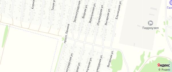 Жемчужная улица на карте Рубцовска с номерами домов