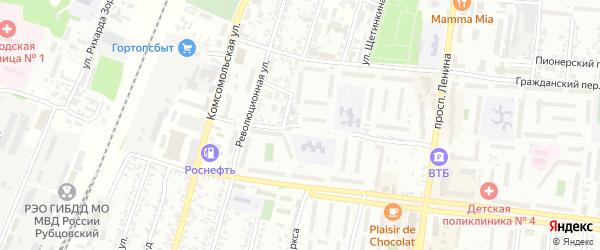 Майский переулок на карте Рубцовска с номерами домов