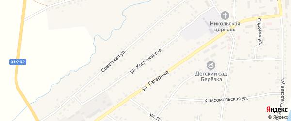 Улица Космонавтов на карте села Крутихи с номерами домов