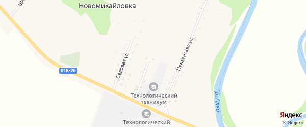 Школьная улица на карте села Новомихайловки с номерами домов