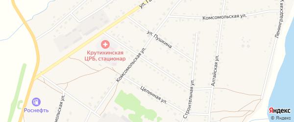 Первомайская улица на карте села Крутихи с номерами домов