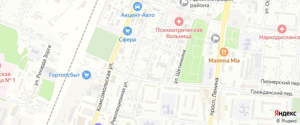 Улица Крупской на карте Рубцовска с номерами домов
