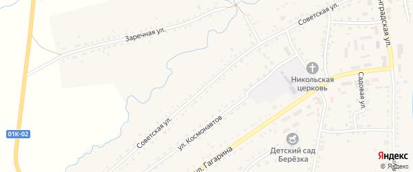 Советская улица на карте села Крутихи с номерами домов