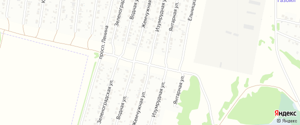 Изумрудная улица на карте Рубцовска с номерами домов