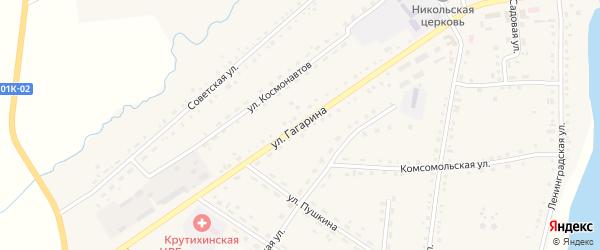 Улица Гагарина на карте села Крутихи с номерами домов