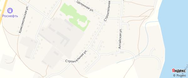 Строительная улица на карте села Крутихи с номерами домов