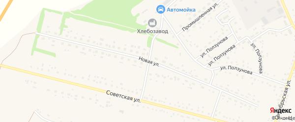 Новая улица на карте села Романово с номерами домов