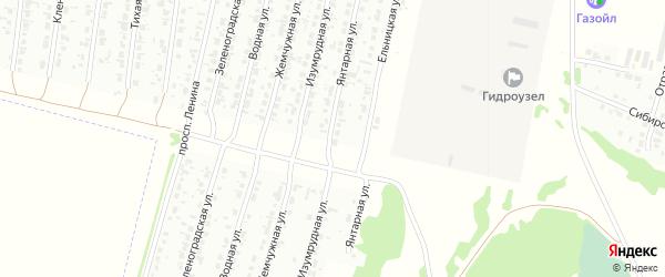 Янтарная улица на карте Рубцовска с номерами домов