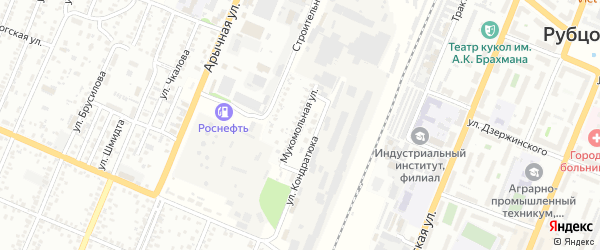 Мукомольная улица на карте Рубцовска с номерами домов