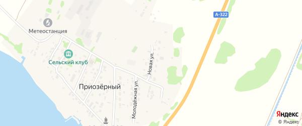Новая улица на карте Приозерного поселка с номерами домов