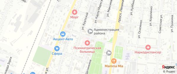 Бульварный 1-й переулок на карте Рубцовска с номерами домов