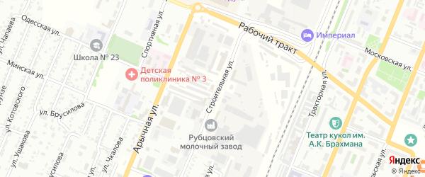 Строительная улица на карте садового некоммерческого товарищества N 3 с номерами домов