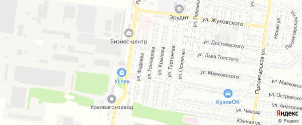 Улица Гончарова на карте Рубцовска с номерами домов
