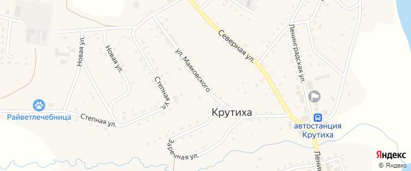 Улица Маяковского на карте села Крутихи с номерами домов