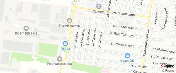 Улица Крылова на карте Рубцовска с номерами домов