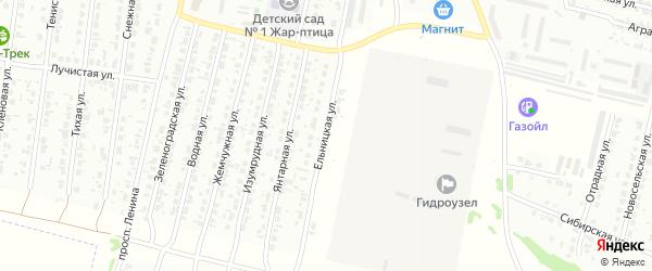 Ельницкая улица на карте Рубцовска с номерами домов
