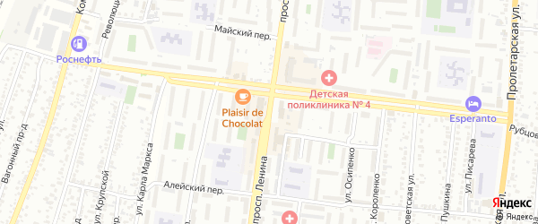 Проспект Ленина на карте Рубцовска с номерами домов