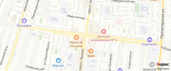 Совхозный проезд на карте Рубцовска с номерами домов