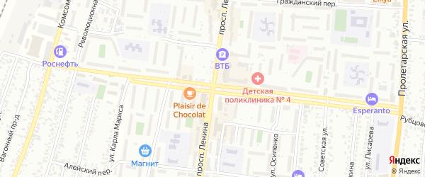 Михайловская улица на карте Рубцовска с номерами домов