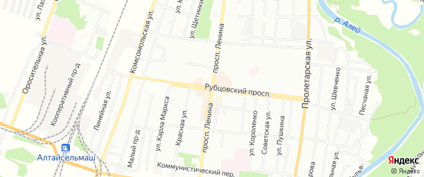 СТ N 10 на карте Рубцовска с номерами домов