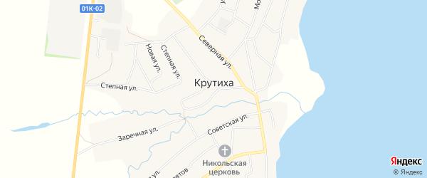 Карта села Крутихи в Алтайском крае с улицами и номерами домов