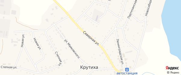 Северная улица на карте села Крутихи с номерами домов