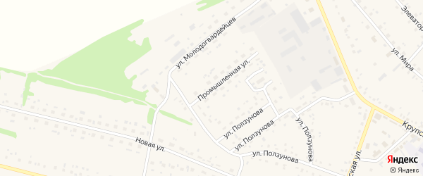 Промышленная улица на карте села Романово с номерами домов