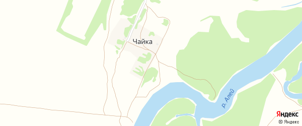 Набережная улица на карте поселка Чайки с номерами домов