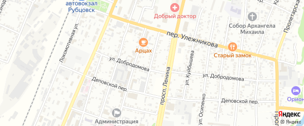 Улица Максима Горького на карте Рубцовска с номерами домов