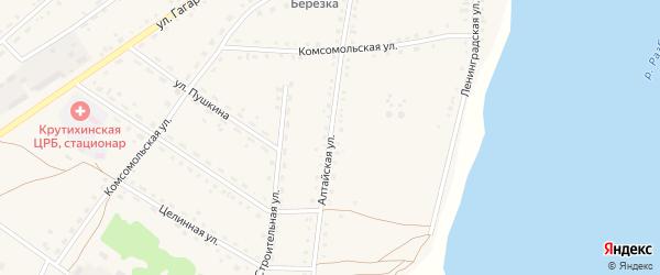 Алтайская улица на карте села Крутихи с номерами домов