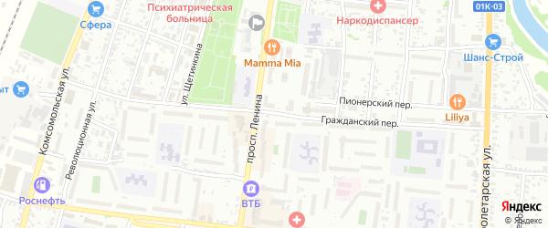 Гражданский переулок на карте Рубцовска с номерами домов