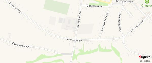 Кузнечный переулок на карте села Романово с номерами домов