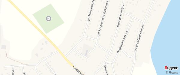 Улица Космонавта Лазарева на карте села Крутихи с номерами домов