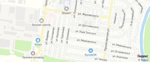 Улица Льва Толстого на карте Рубцовска с номерами домов
