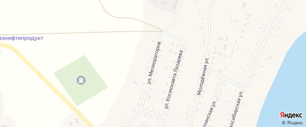 Улица Мелиораторов на карте села Крутихи с номерами домов