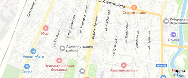 Деповской переулок на карте Рубцовска с номерами домов