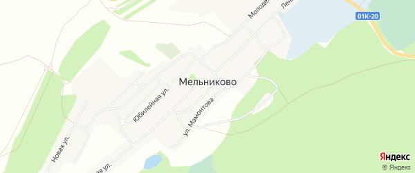 Карта села Мельниково в Алтайском крае с улицами и номерами домов