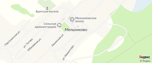 Молодежная улица на карте села Мельниково с номерами домов