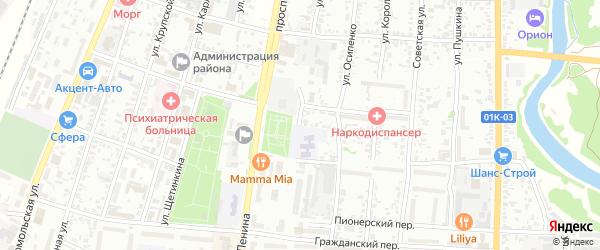 Улица Куйбышева на карте Рубцовска с номерами домов