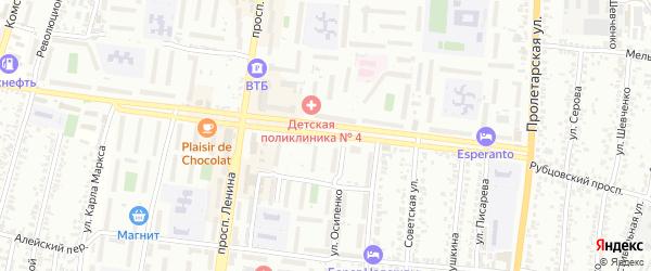 Рубцовский проспект на карте Рубцовска с номерами домов