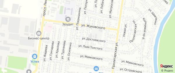 Улица Панфилова на карте Рубцовска с номерами домов