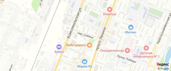 Переулок Ивана Собина на карте Рубцовска с номерами домов