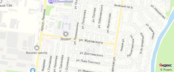 Проезд Дунаевского на карте Рубцовска с номерами домов