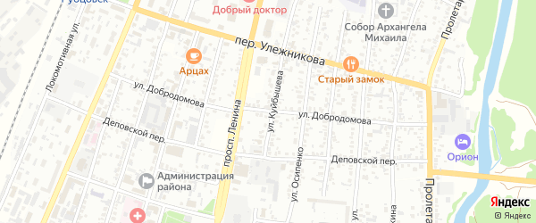 Улица Добродомова на карте Рубцовска с номерами домов