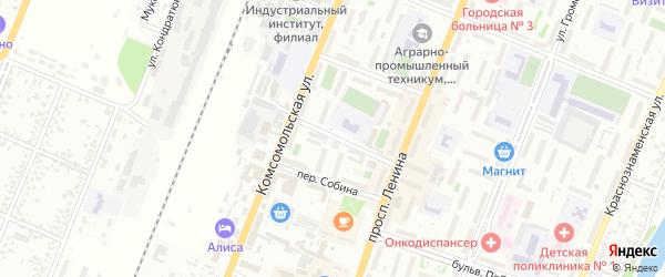 Переулок Виктора Шенкеля на карте Рубцовска с номерами домов