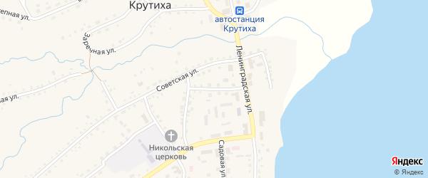 Пожарный переулок на карте села Крутихи с номерами домов