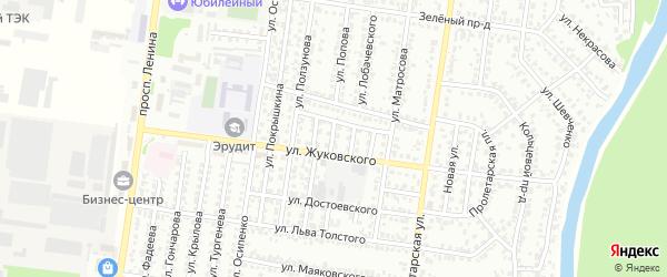 Проезд Станиславского на карте Рубцовска с номерами домов