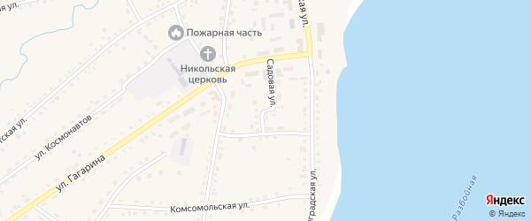 Садовая улица на карте села Крутихи с номерами домов