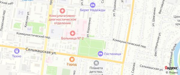 Коммунистический переулок на карте Рубцовска с номерами домов